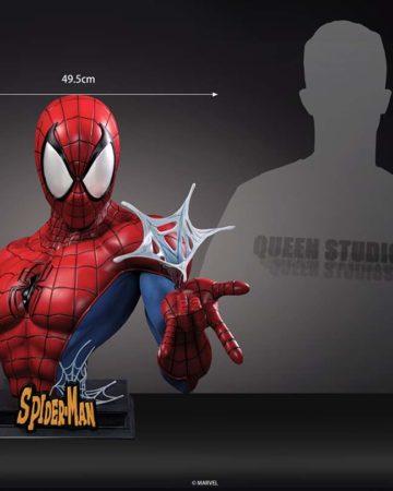 Queen Studio Comics Spiderman Lifesize Bust (Red & Blue)